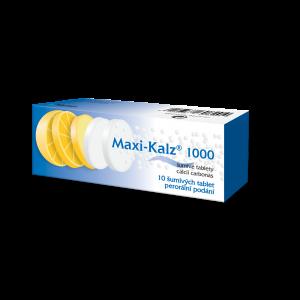 MAXI-KALZ 1000 Šumivé tablety 10 ks