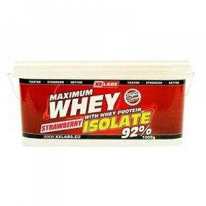 XXLABS Maximum Whey Protein Isolate jahodový 1000 g