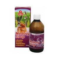 PURUS MEDA Medový sirup jitrocel + tymián + mateřídouška + vitamín C 100 g