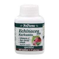MEDPHARMA Echinacea 600 Forte + kurkumin + vitamin C + bez černý + zinek 67 tablet