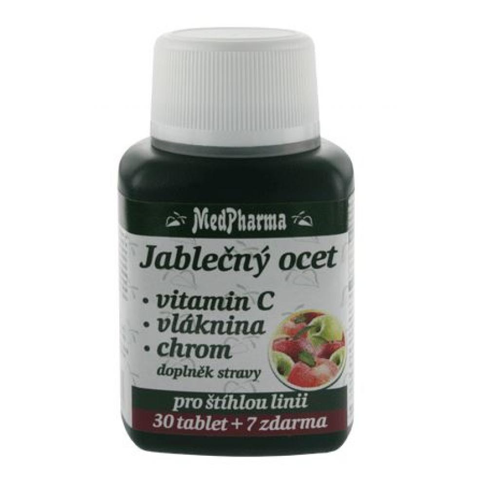 Medpharma Jablečný ocet + vitamin C + vláknina + chrom 37 tablet