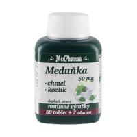 MEDPHARMA Meduňka + chmel + kozlík 67 tablet