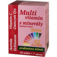 MEDPHARMA Multivitamín s minerály + extra C 67 tablet
