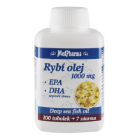 MEDPHARMA Rybí olej 1000 mg + EPA + DHA 107 tobolek