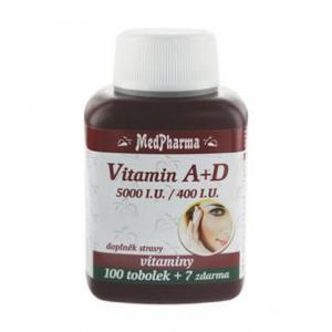 MEDPHARMA Vitamín A+D (5000 I.U./400 I.U.) 107 tobolek