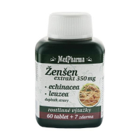 MedPharma Žen-šen + echinacea + leuzea 67 kapslí