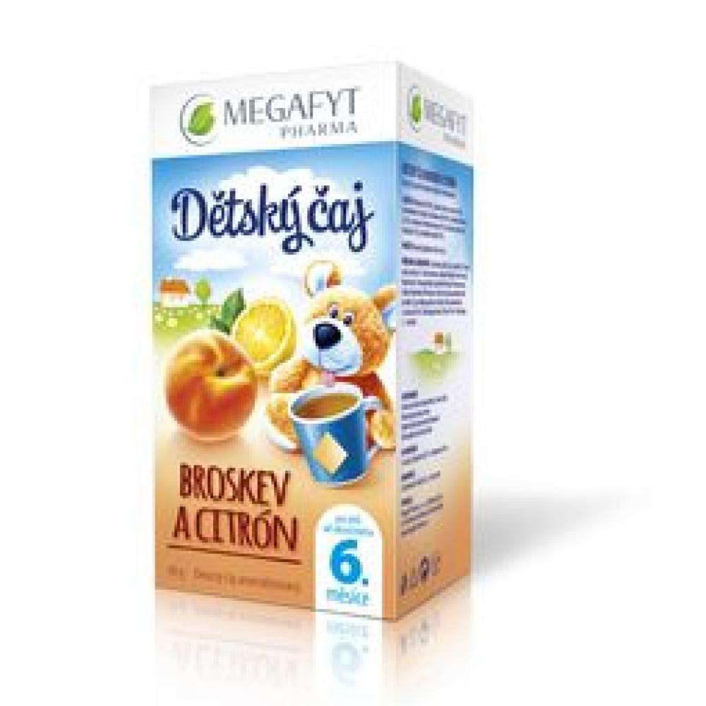 MEGA Dětský čaj broskev a citrón 20x2g
