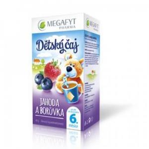 MEGAFYT Dětský čaj jahoda a borůvka 20 x 2 g