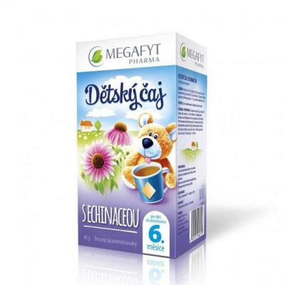 MEGAFYT Dětský čaj s echinaceou 20 x 2 g