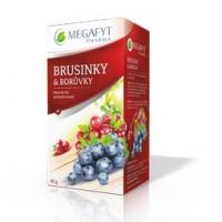 MEGAFYT Ovocný čaj s příchutí brusinky a borůvky 20 x 2 g