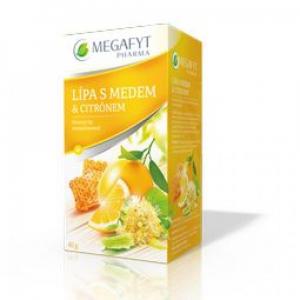 MEGAFYT Ovocný čaj s lípou, příchutí medu a citrónu 20 x 2 g