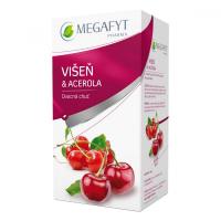 MEGAFYT Ovocný čaj s příchutí višně a aceroly 20 x 2 g