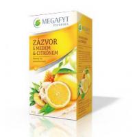 MEGAFYT Ovocný čaj s příchutí citrónu, zázvoru a medu 20 x 2 g