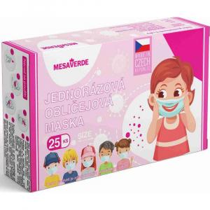 MESAVERDE Dětská rouška dívčí Mix 25 kusů