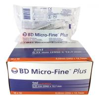 Microfine insulinová stříkačka 1ml U100 BD 100ks