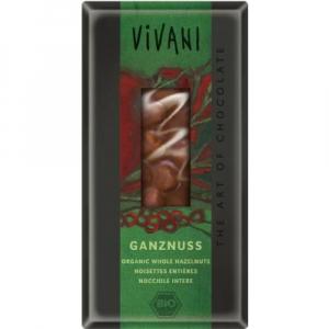 Mléčná čokoláda s lískovými oříšky  VIVANI 100g-BIO