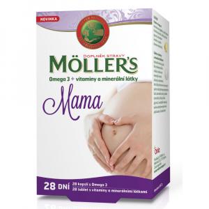 MÖLLER´S Mama Omega 3 28 kapslí + vitamíny a minerály 28 tablet