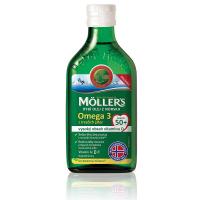 MÖLLERS Omega 3 50+ olej z tresčích jater s citronovou příchutí 250 ml