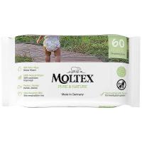 MOLTEX Pure & Nature EKO vlhčené ubrousky na bázi vody 60 ks