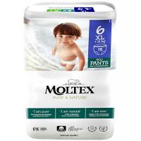 MOLTEX Pure & Nature XL Natahovací plenkové kalhotky +14 kg 18 ks