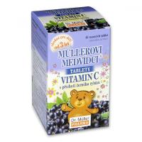 DR. MÜLLER Müllerovi medvídci s vitaminem C s příchutí černého rybízu 45 tablet