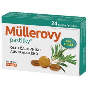 DR. MÜLLER Müllerovy pastilky s olejem čajovníku australského 24 ks