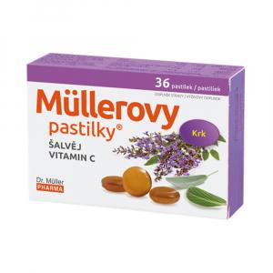 DR. MÜLLER Müllerovy pastilky se šalvějí 36 ks