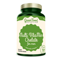 GREENFOOD NUTRITION Multivitamin chelát pro muže 90 kapslí