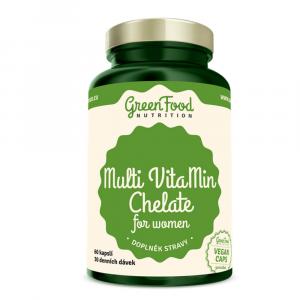 GREENFOOD NUTRITION Multivitamín chelát pro ženy 60 kapslí