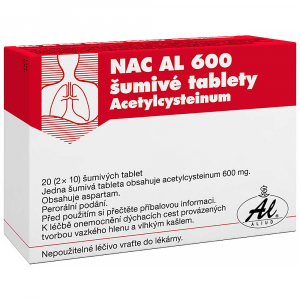 NAC AL 600 ŠUMIVÉ TABLETY  600 mg 20 tablet 31.05.2021