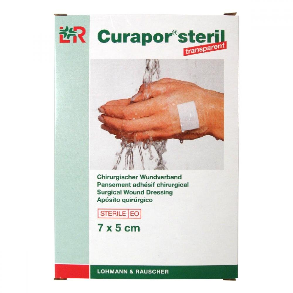 Náplast Curapor Transparent steril. 7 x 5cm / 5 ks