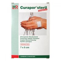 LOHMANN RAUSCHER Náplast Curapor Transparent steril. 7 x 5cm / 5 ks