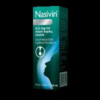 NASIVIN® 0,5% Nosní kapky, roztok 10 ml