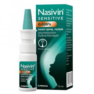 NASIVIN Sensitive 0,025 % roztok ve spreji pro děti 10 ml