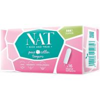 NAT nice & true Tampony z organické bavlny – super 16 ks