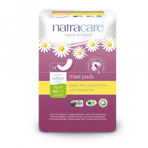 NATRACARE Menstruační vložky Maxi REGULAR bez křidélek 14 ks