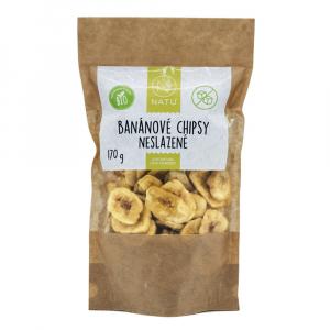 NATU Banánové chipsy neslazené 170 g BIO