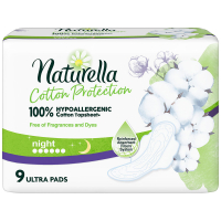 NATURELLA  Cotton Protection Ultra Night Hygienické vložky s křidélky 9 ks