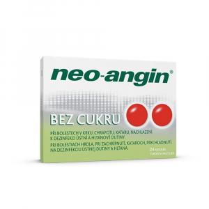 NEO-ANGIN Bez cukru rozpustné pastiky v ústech 24 kusů