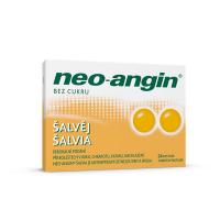NEO-ANGIN Bez cukru šalvěj rozpustné pastilky v ústech 24 kusů