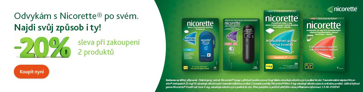 Nicorette 2 ks = 20 % sleva