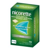 AKCE NICORETTE Classic 2 mg Léčivá žvýkací guma 105 kusů