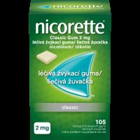 NICORETTE Classic 2 mg Léčivá žvýkací guma 105 kusů