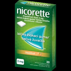 NICORETTE Freshfruit 2 mg Léčivá žvýkací guma 30 kusů