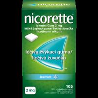 NICORETTE Icemint 2 mg Léčivá žvýkací guma 105 kusů
