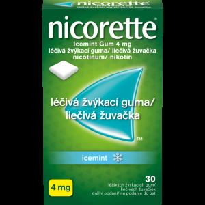 NICORETTE Icemint 4 mg Léčivá žvýkací guma 30 kusů