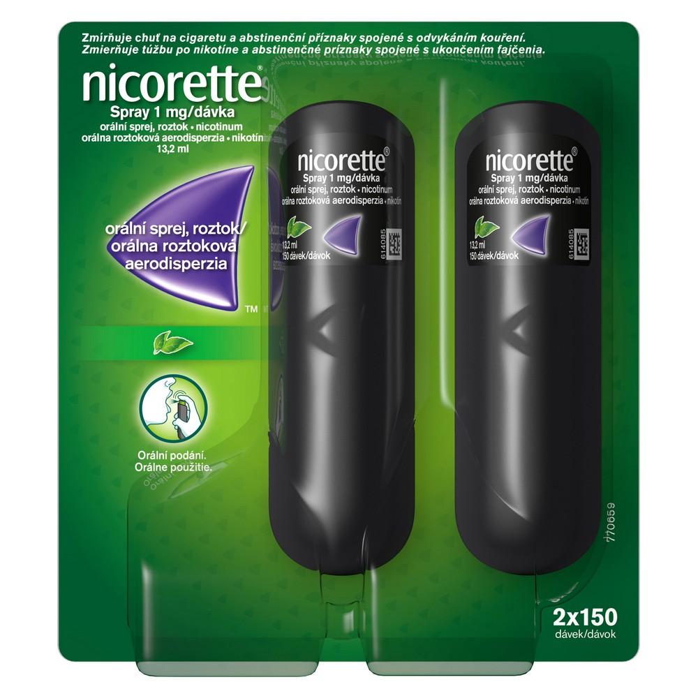 NICORETTE Sprej 1 mg/dávka 2 x 150 dávek 13,2 ml
