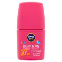 NIVEA Sun Protect&Care Dětské barevné mléko na opalování v kuličce OF 50+ růžová  50 ml