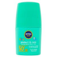 NIVEA Sun Protect&Care Dětské barevné mléko na opalování v kuličce OF 50+ zelené  50 ml