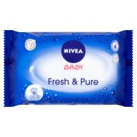 NIVEA Baby Fresh & Pure Čisticí ubrousky 63 ks